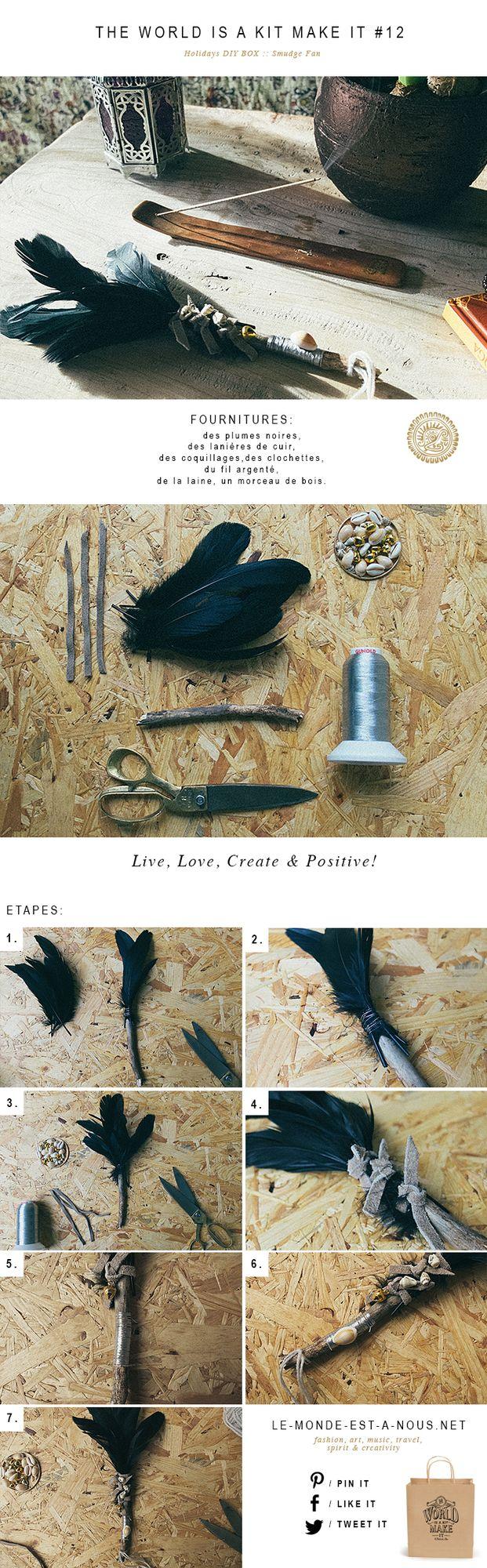 ritual smudge fan le monde est bos veren. Black Bedroom Furniture Sets. Home Design Ideas