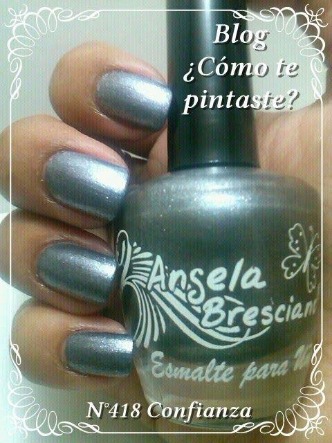 Colección Otoño-Invierno Angela Bresciano #swatches #nails #uñas #comotepintaste #esmaltes #polish #silver #plateado #angelabresciano
