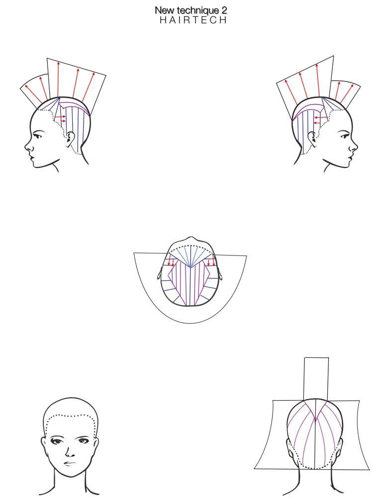 hairtech app -  headsheet  drawing
