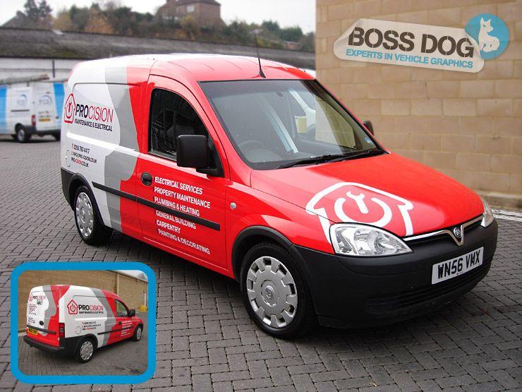 Boss Dog Vehicle Graphics Van Signwriting Car WrappingAll - Car signwriting