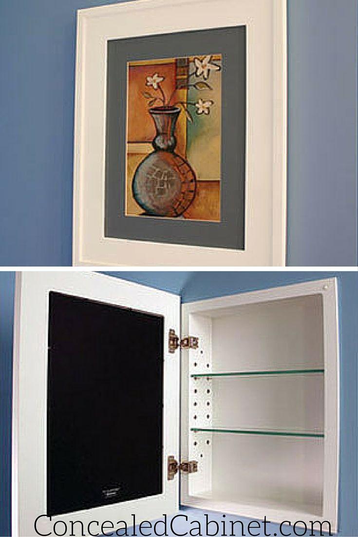 Concealed Cabinet Hidden Bathroom Medicine Cabinet Storage.