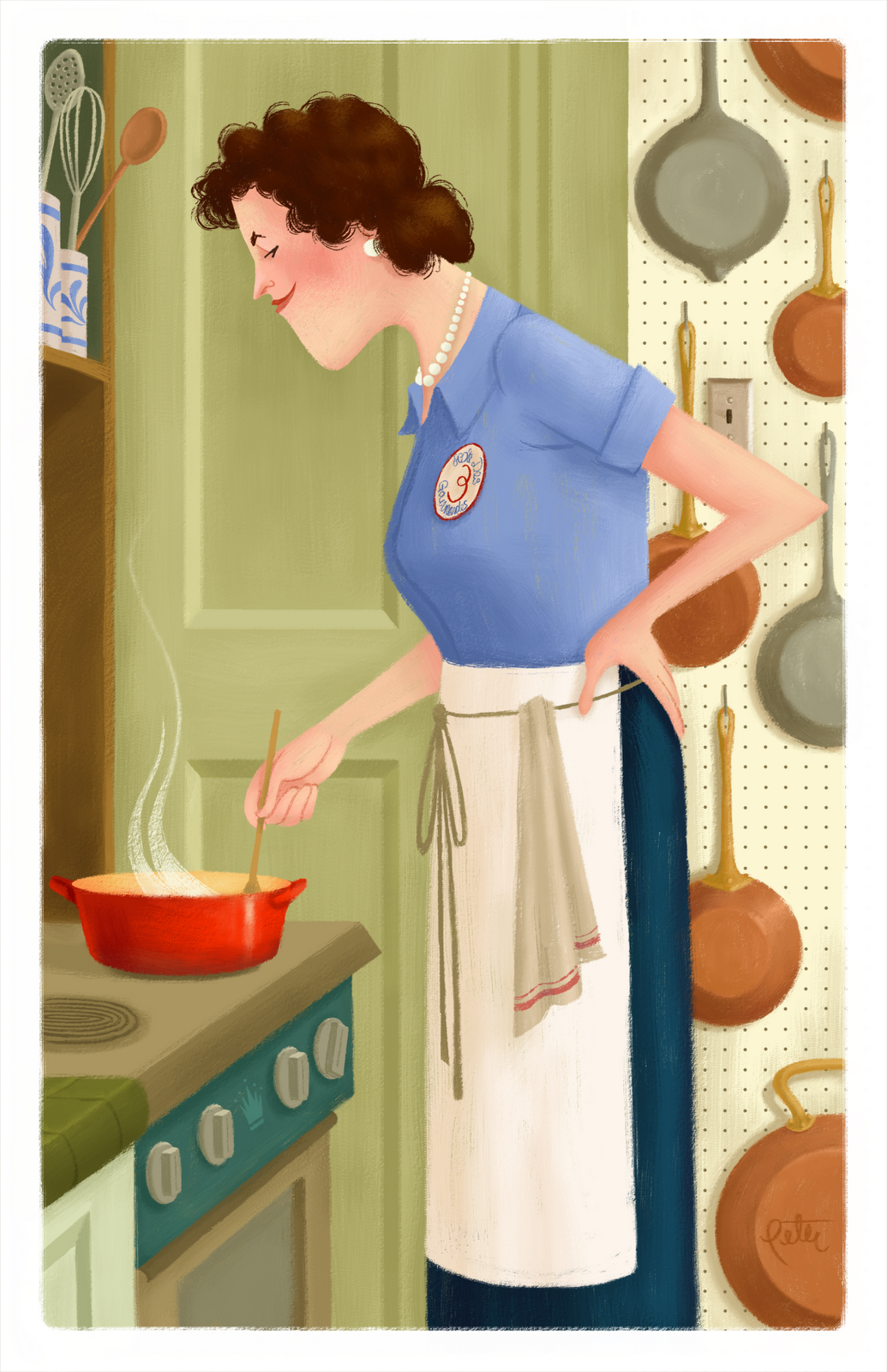 Happy 100th Birthday Julia Child Illustration By Peter Emmerich