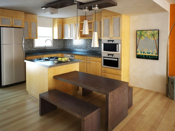 How To Make A Small Kitchen Functional And Beautiful  Kitchen Glamorous Designer Kitchen Tables Decorating Design