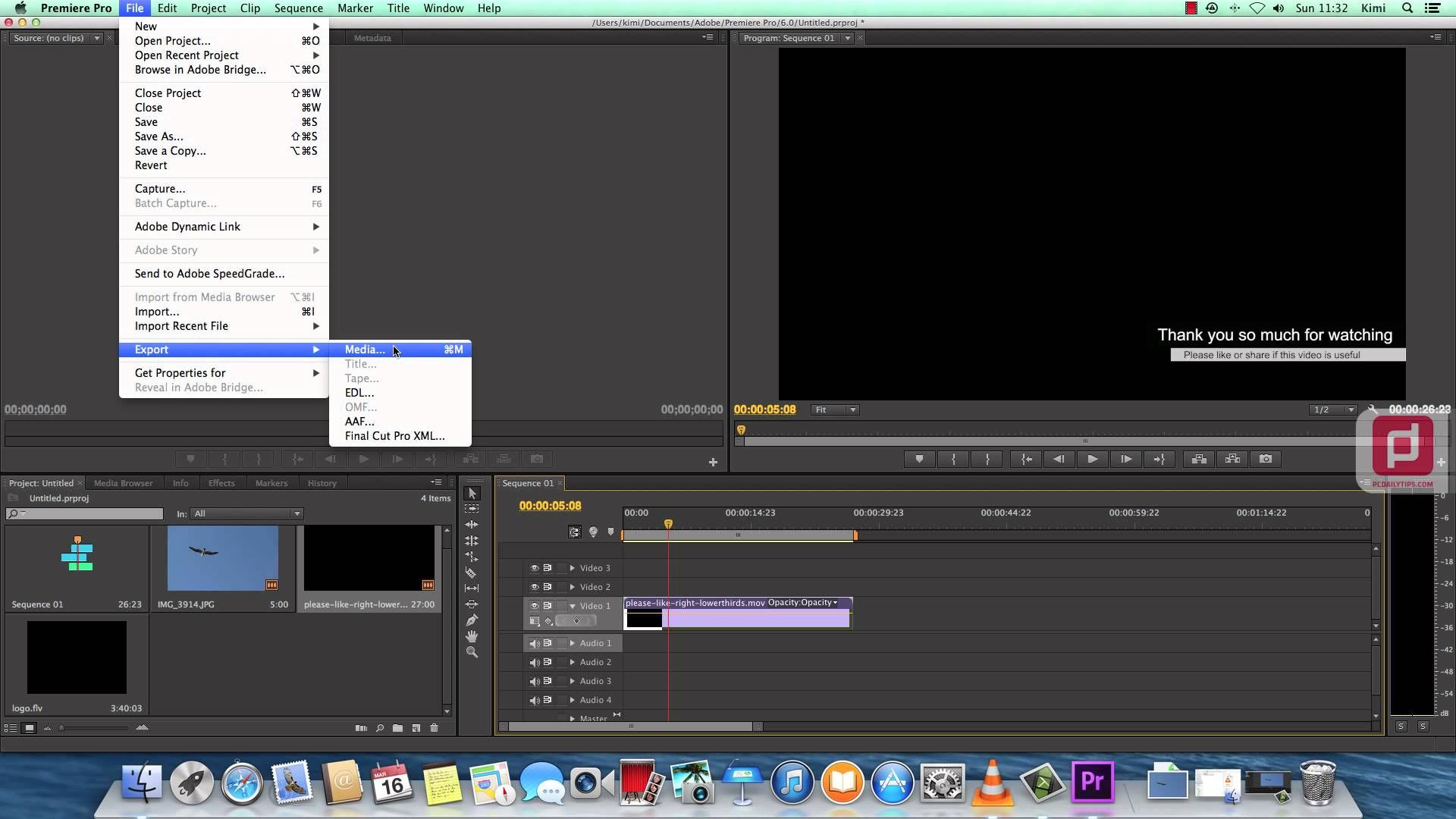 Exporting Alpha Channel or Transparent Video with Premiere