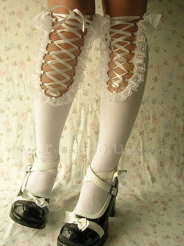 Gothic EGL Sweet Lolita CORSET Knee-Hi Stocking sock