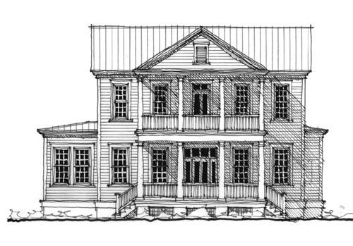 Historic Southern House Plan   Southern House Plans  House    Historic Southern House Plan   Southern House Plans  House plans and Colonial House Plans