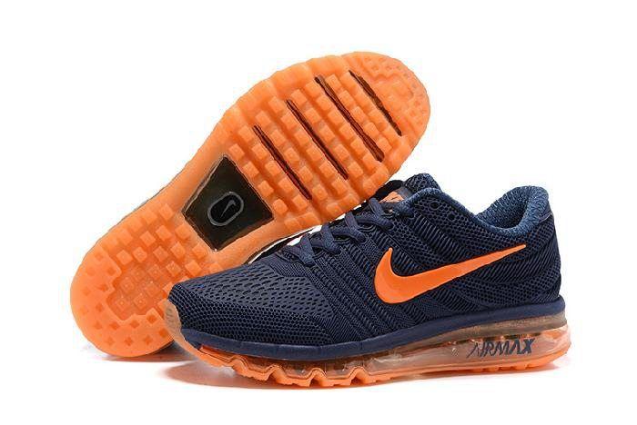 Nike Air Max 2017 Dark Blue Orange for Men | Zapatos, Botas