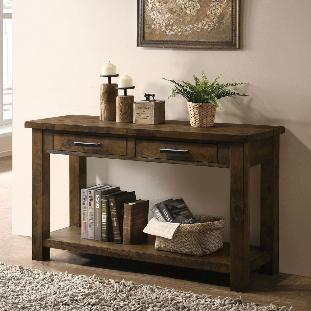 Our Best Living Room Furniture Deals In 2020 Furniture Of America Wood Console Table Sofa Table