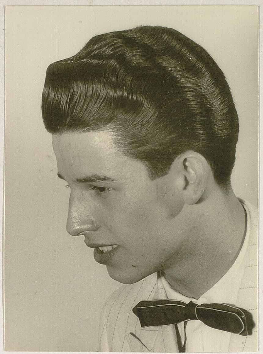 50s men's hairstyle prom night