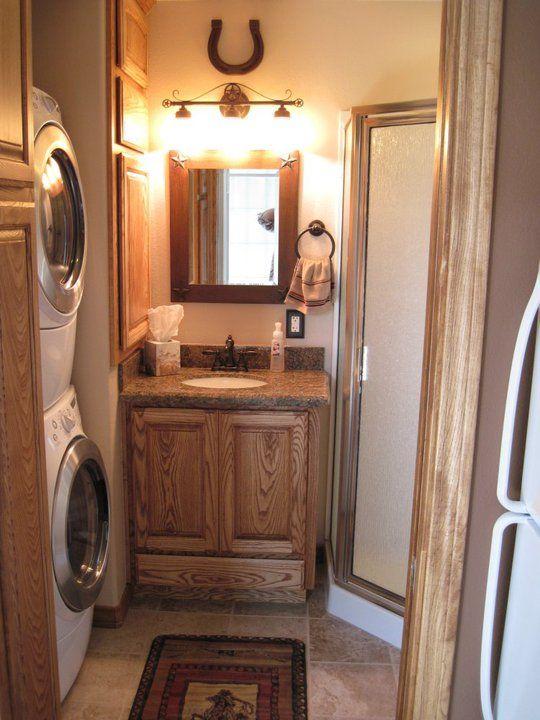 Western Bathroom All Things Rustic Pinterest Western - Western bathroom remodeling ideas