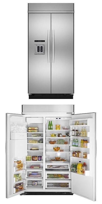 Refrigerators 20713: Brand New Kitchenaid 48 Stainless Built In Side By  Side Refrigerator Kssc48qvs