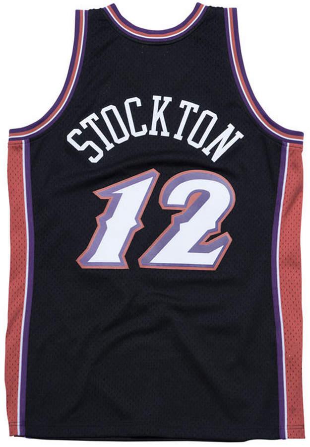 half off 2c797 3ebdd Mitchell & Ness Men's John Stockton Utah Jazz Hardwood ...