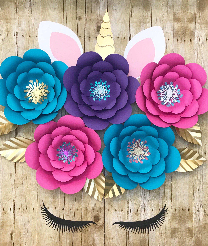 Flower Decorations: Unicorn Decorations, Unicorn Party, Unicorn Backdrop