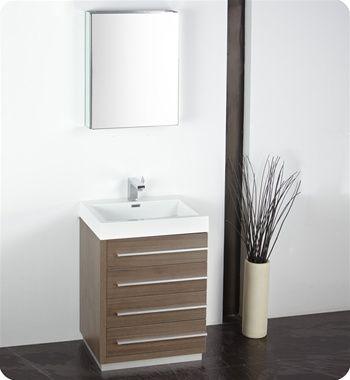 Fresca Fvn8024go Livello 24 Modern Bathroom Vanity With Medicine