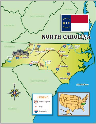 Trek Through North Carolina With Our US Edition Map Little - North Carolina Map Us