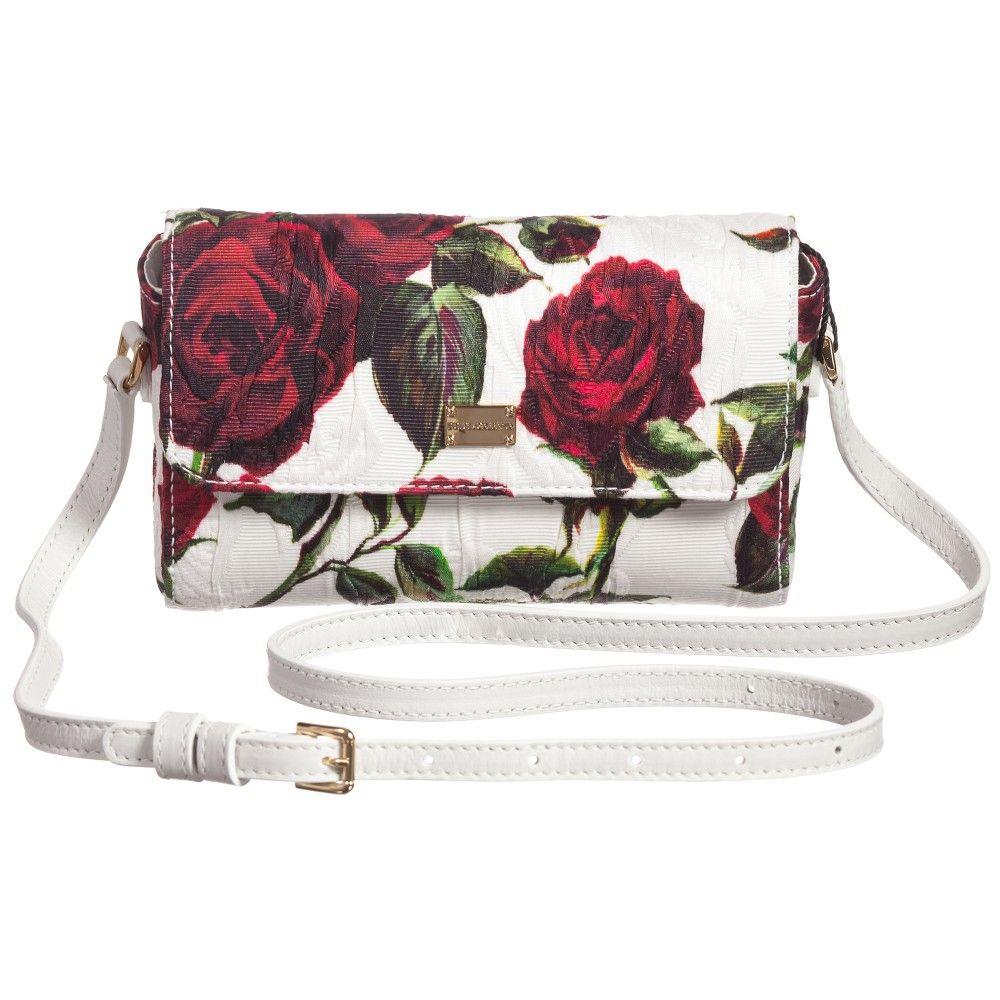 Girls Rose Print Bag (16cm) , Dolce & Gabbana, Girl