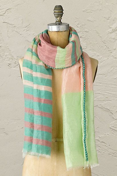 Anthropologie EU Gossamer Stripes Scarf