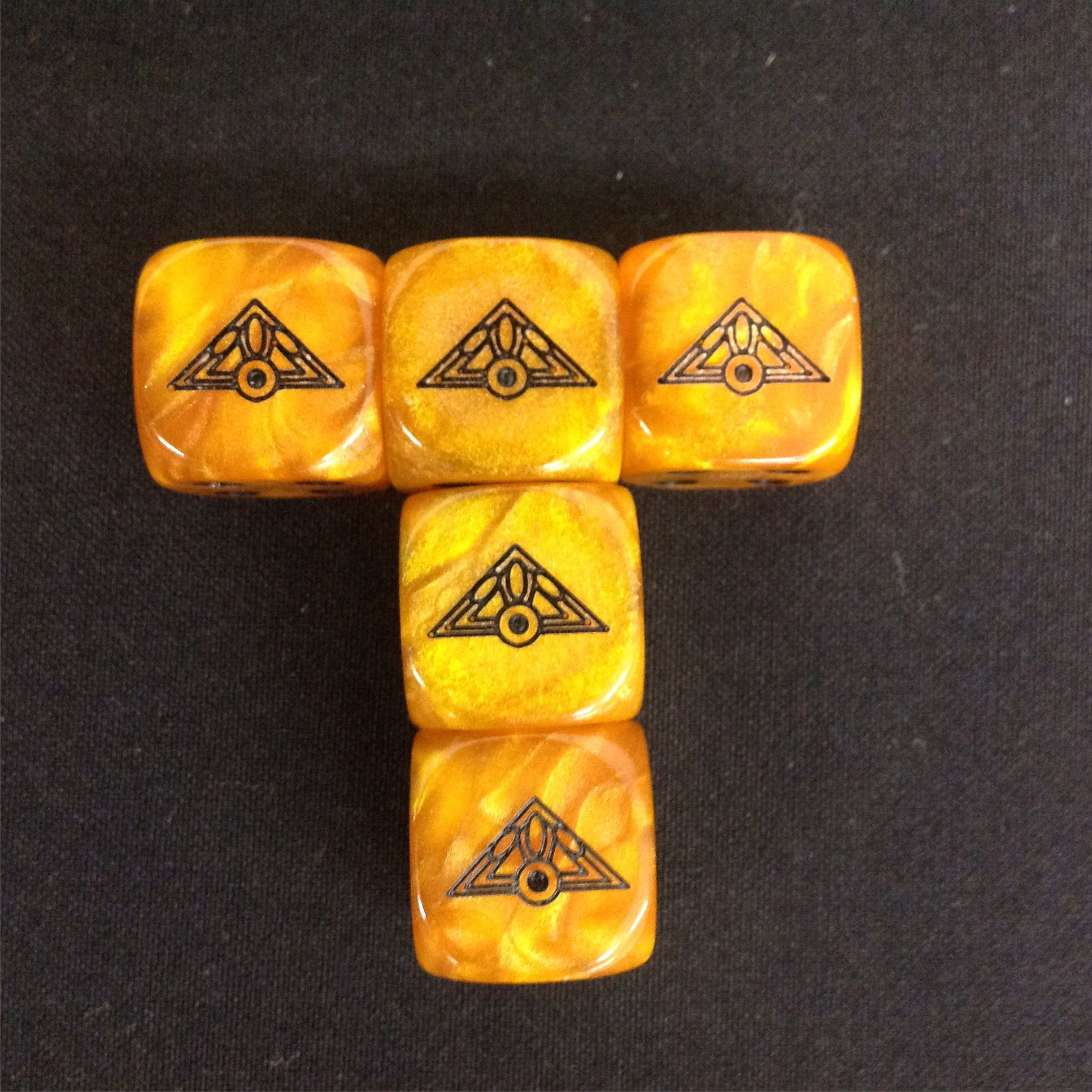 Dice from the Talisman magical quest board game. Games