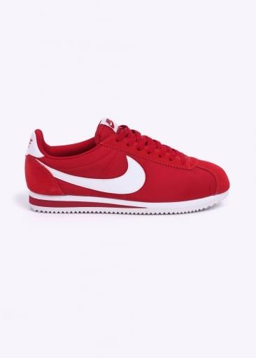 on sale 1e1d5 22ae4 Nike Footwear Classic Cortez Nylon Trainers - Gym Red