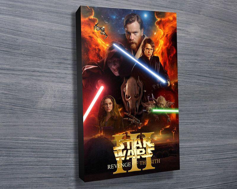 Star Wars Episode Ii Film Poster Star Wars Wall Art Star Wars Canvas Print Star Wars Art