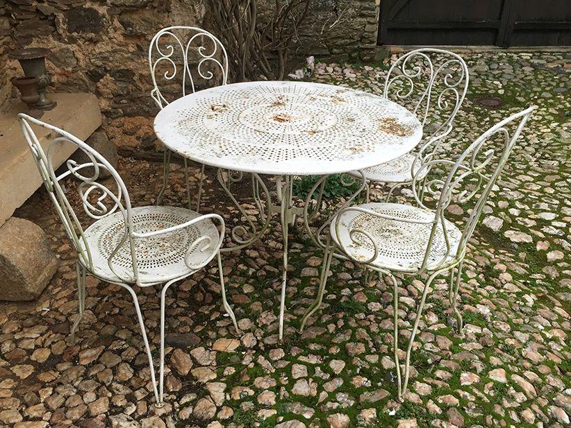Ancien Salon De Jardin En Fer Forge Http Www Lesbrocanteurs Fr
