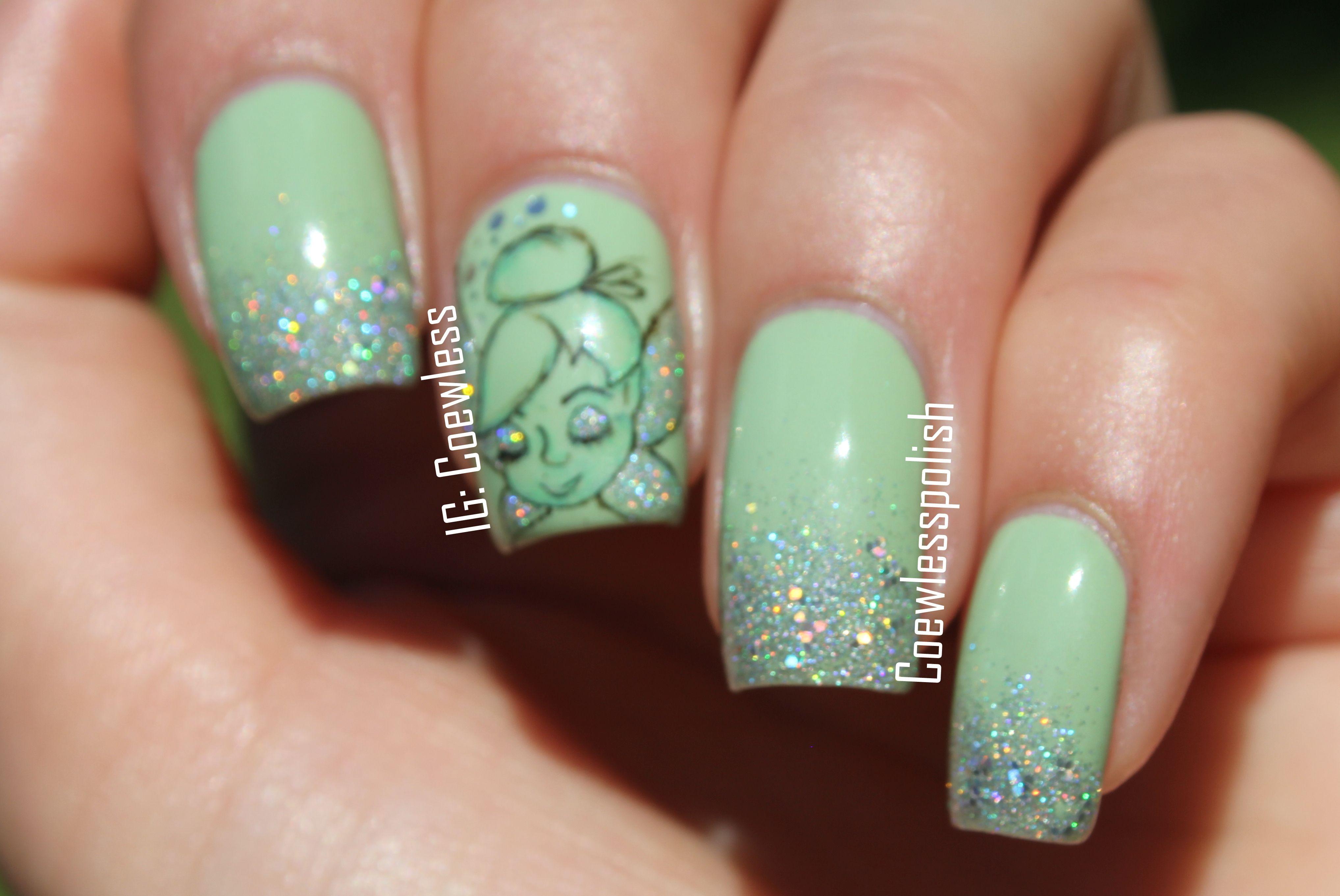 Tinkerbell Nails Tinkerbell Nails | Nail designs | Pinterest