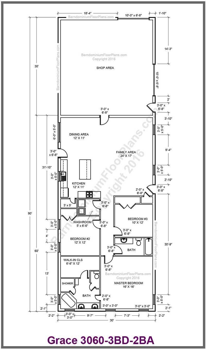20 Barndominium Floor Plans Metal Building Floor Plans With Living