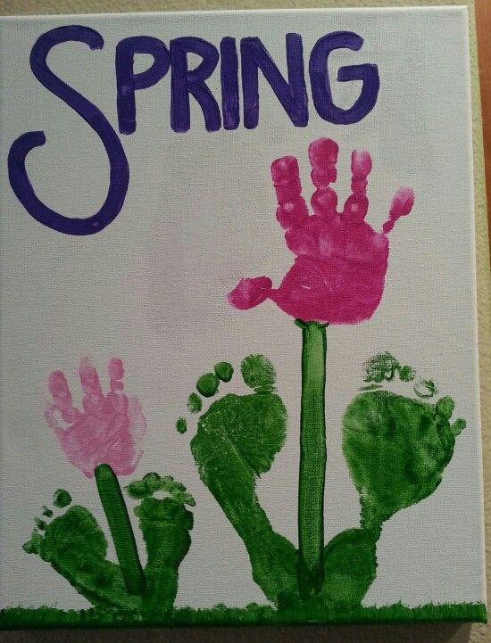 Spring handprint flowers   Kid craft   Spring toddler ...