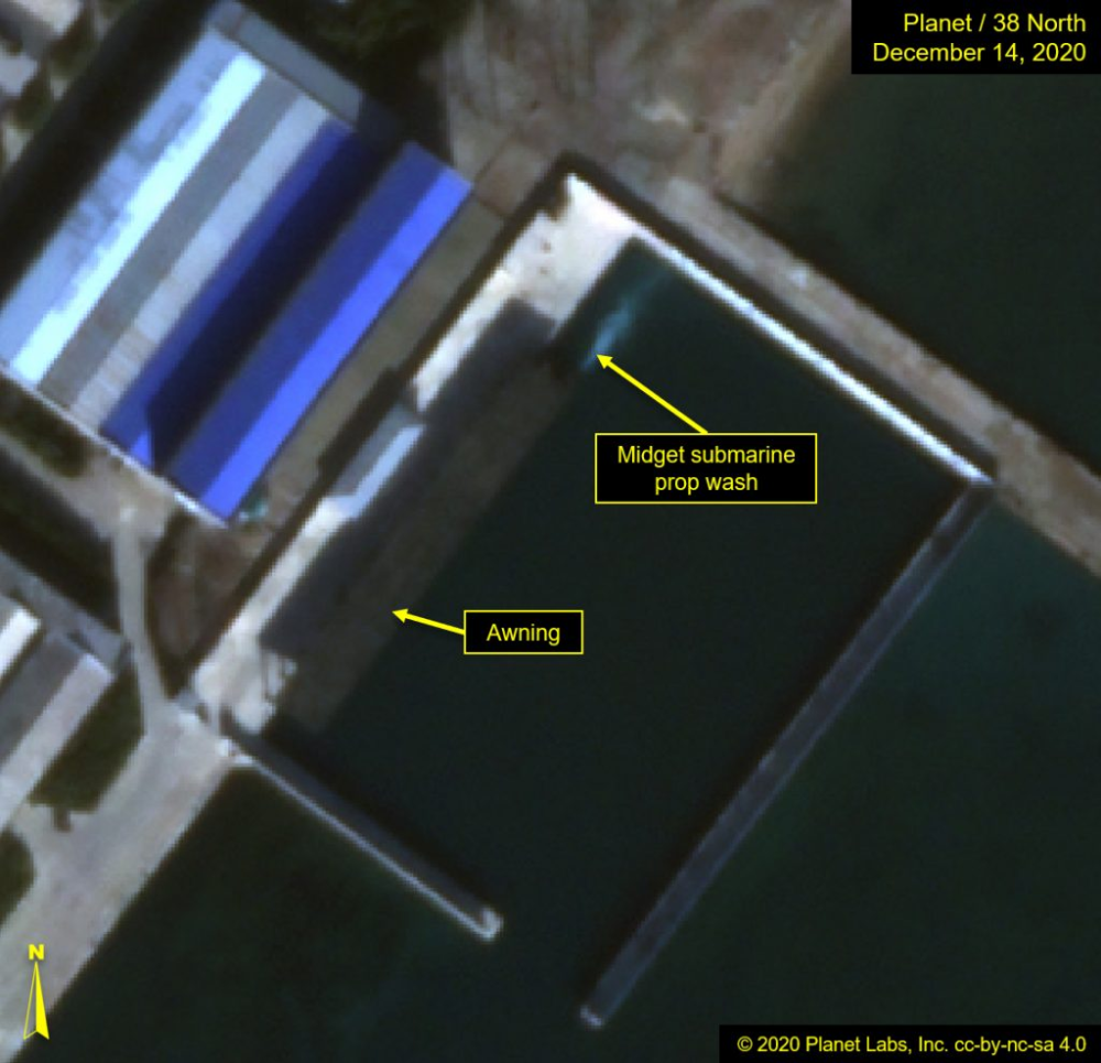 Unusual Object Remains At The Sinpo South Shipyard Possible Midget Submarine 38 North Informed Analysis Of North Korea North Korea Midget Submarine Korea