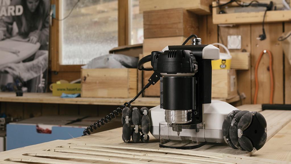 Goliath Cnc An Autonomous Robotic Machine Tool For Makers Project Video Thumbnail Machine Tools Cnc Homemade Tools