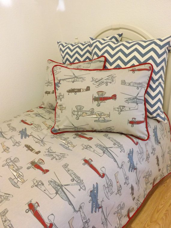 Twin Size Airplane Bedding Vintage Air Little Charlie