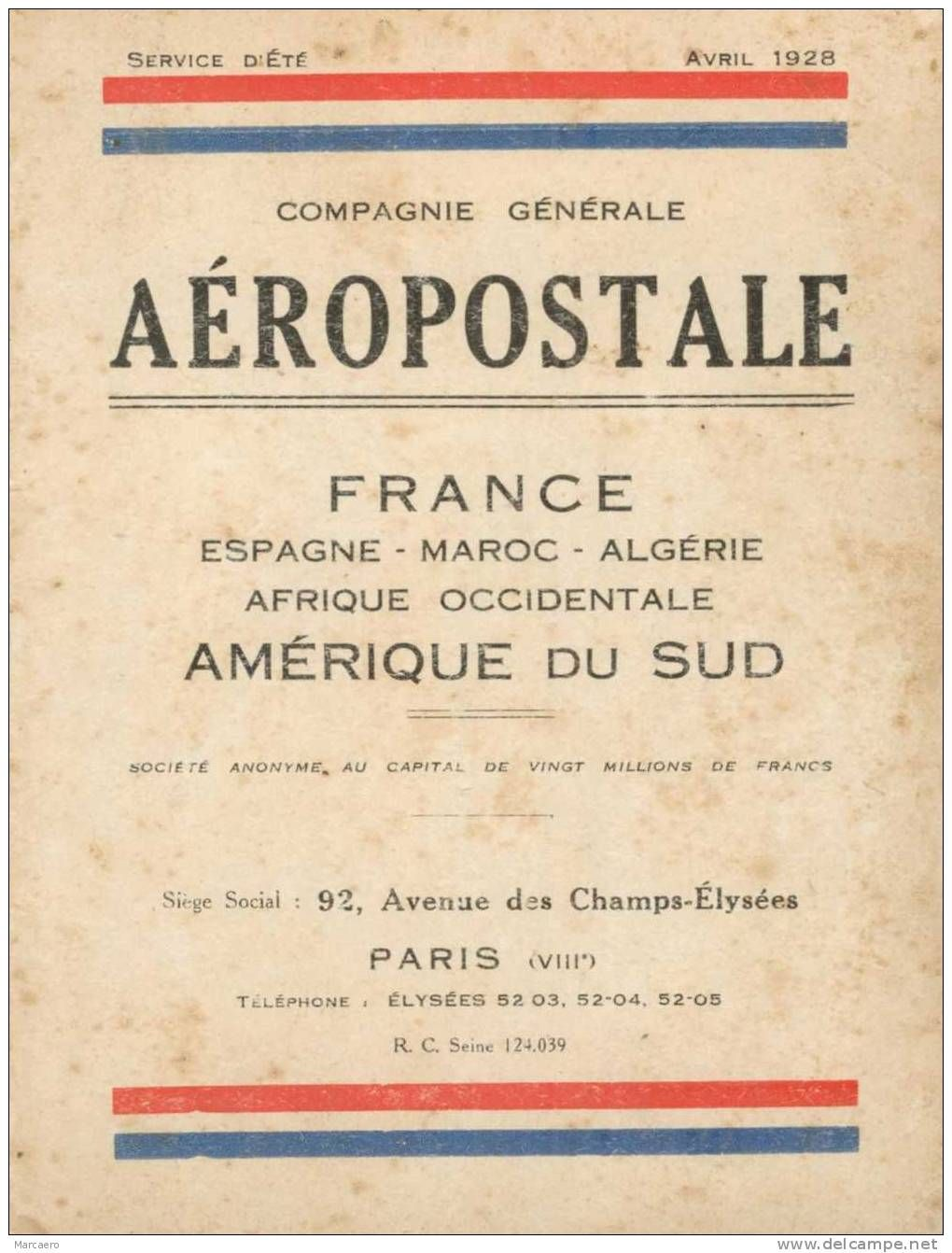 Image Aviation Compagnie Generale Aeropostale Latecoere Ligne Mermoz Aeronef Affiche De Voyage Illustration Avion