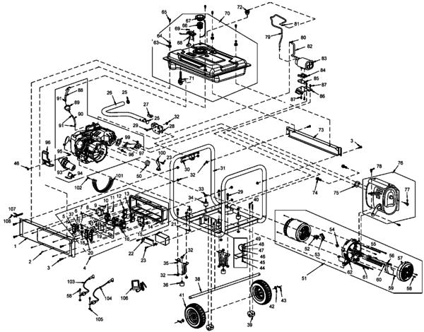 Dewalt Dxgnr7000 Generator Type 0 Parts And Accessories At Partswarehouse Parts And Accessories Dewalt All Brands