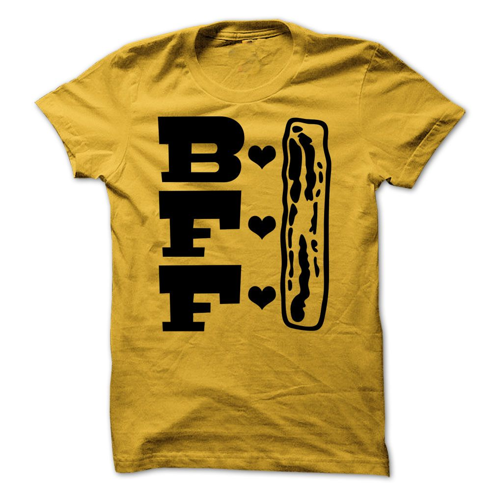 b268e883400 Bacon Best Friends Forever BFF Funny Bacon Tee | Names T-Shirts and ...