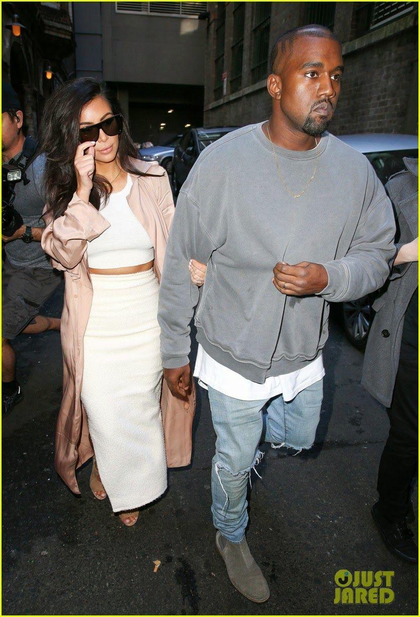 Kim Kardashian And Her Husband Kanye West At Mr Wong S Restaurant In Sydney Australia Kim And Kanye Kardashian Kim Kardashian