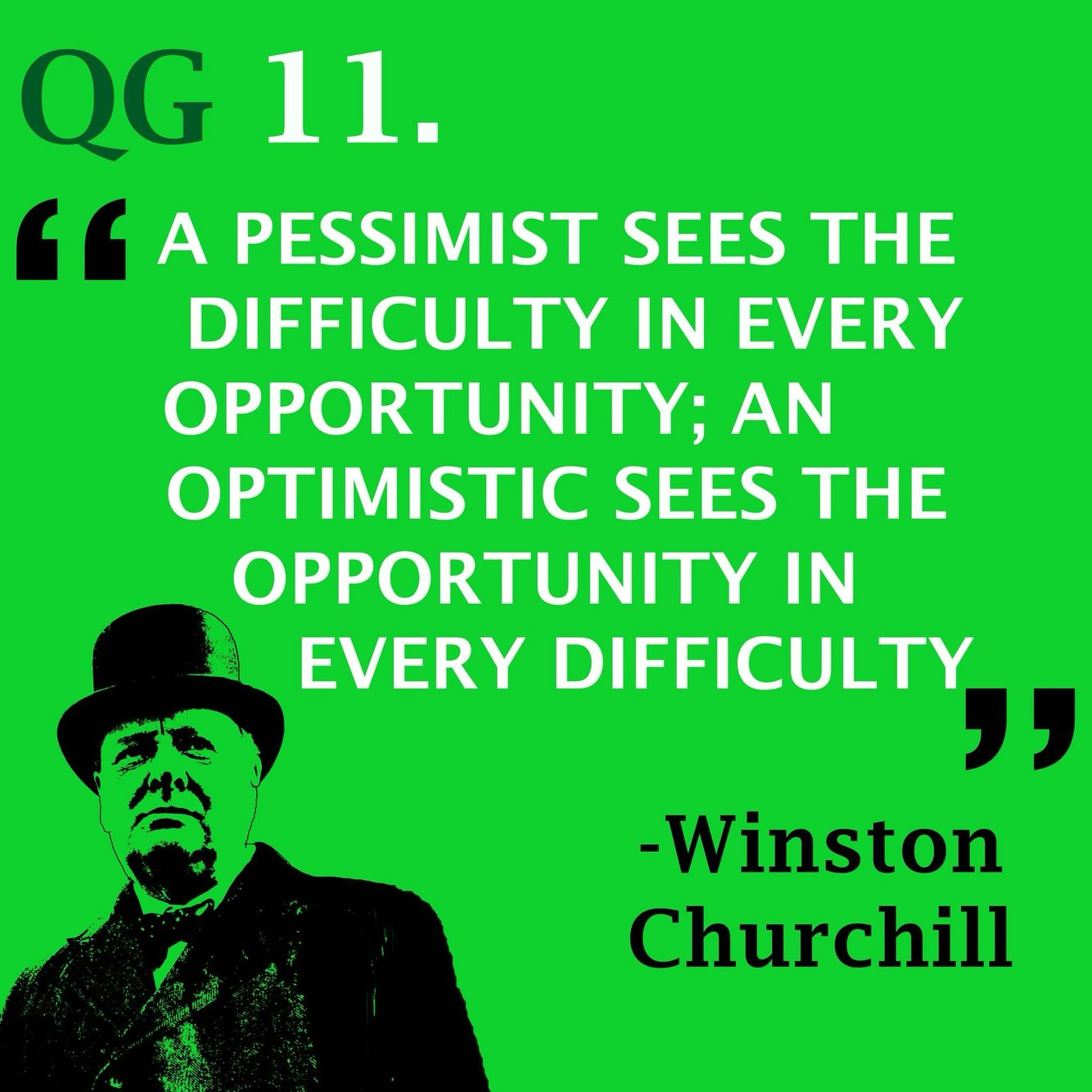 See things in a positive rather than negative manner #quote #winstonchurchill
