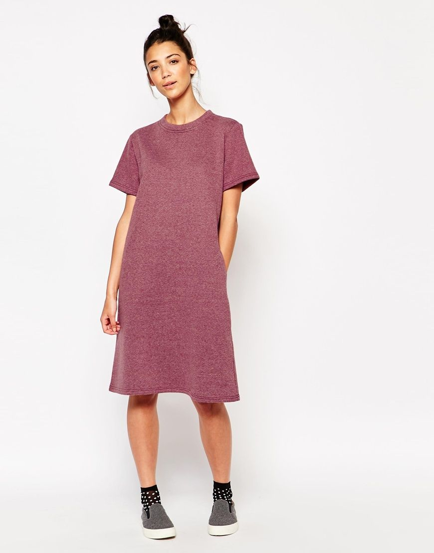 642a481a20a1e Image 1 of The WhitePepper Oversized Midi T-Shirt Dress | style | T ...