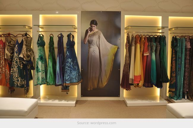 Top 10 Boutiques In Kolkata Clothing Boutique Interior Fashion Showroom Showroom Interior Design