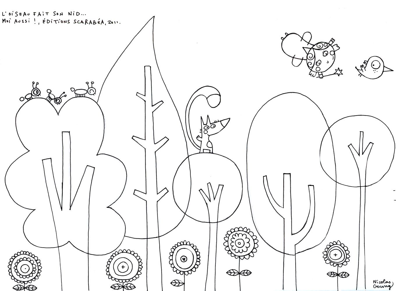 6 feuilles de coloriages de Thomas Gouny design idea for Montessori trees