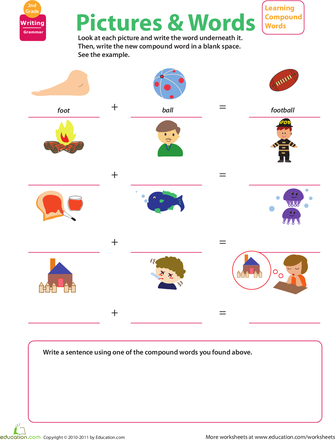 Compound Word Worksheets 2nd Grade Education Art