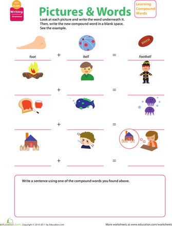 Compound Word Worksheets - 2nd Grade | Education.com | Art ...