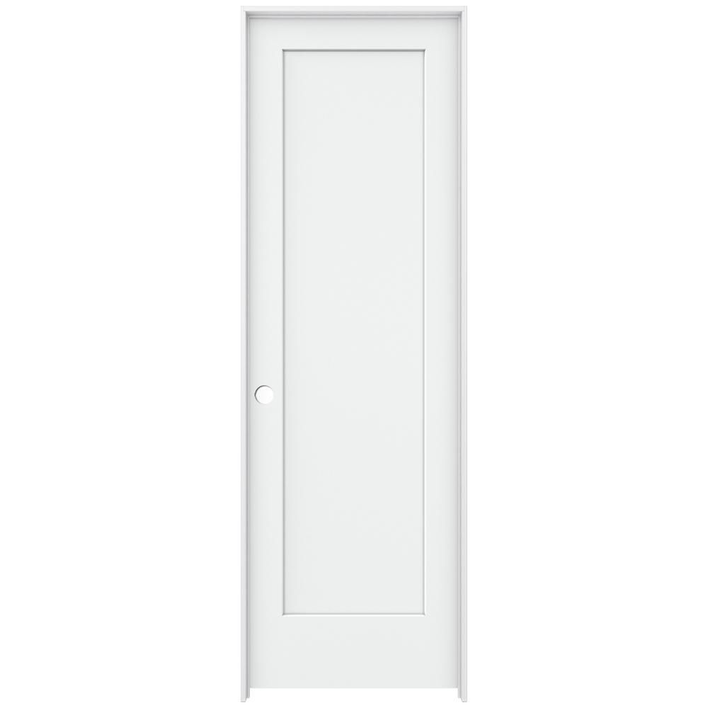 Jeld Wen 32 In X 96 In Brilliant White Left Hand 1 Panel Flat