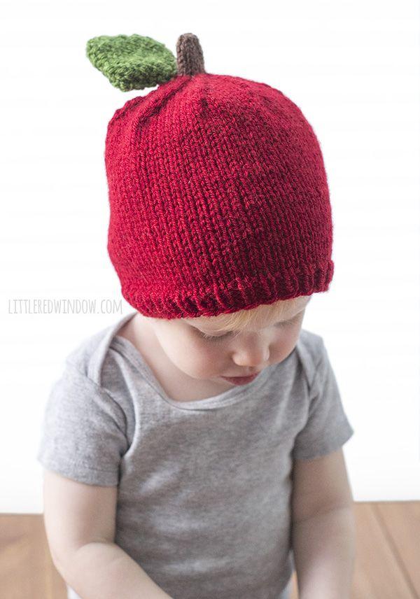 Apple Hat Knitting Pattern | Stricken für kinder, Stricken und für ...