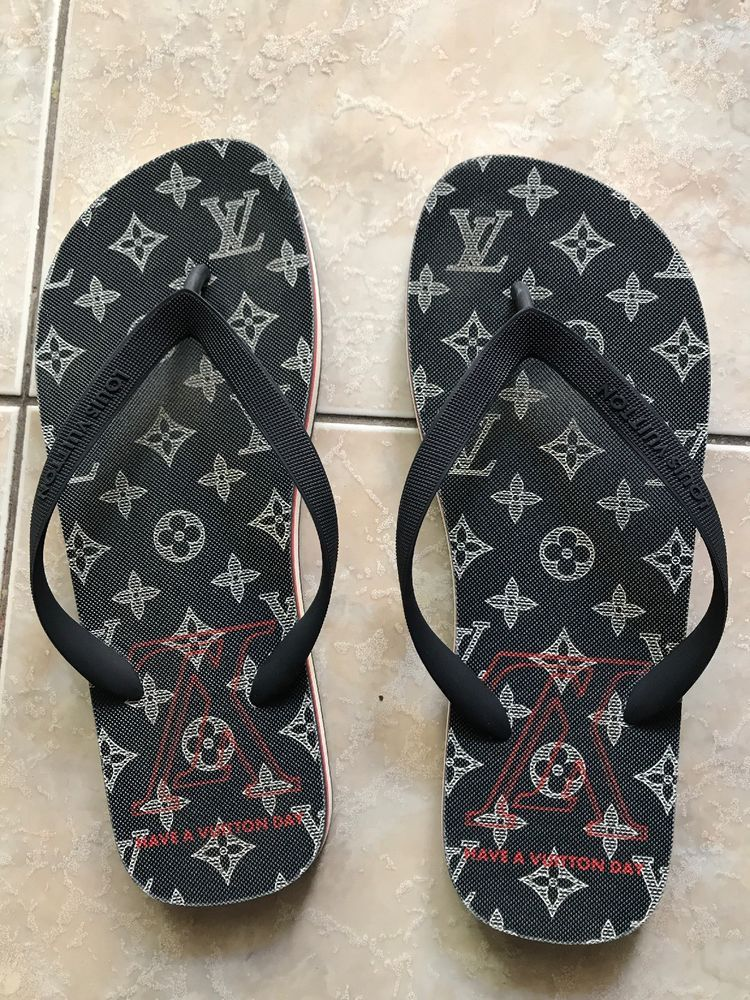 4760a80ac Louis Vuitton Molitor Thong Sandals Navy 10.5  fashion  clothing  shoes   accessories  mensshoes  sandals (ebay link)