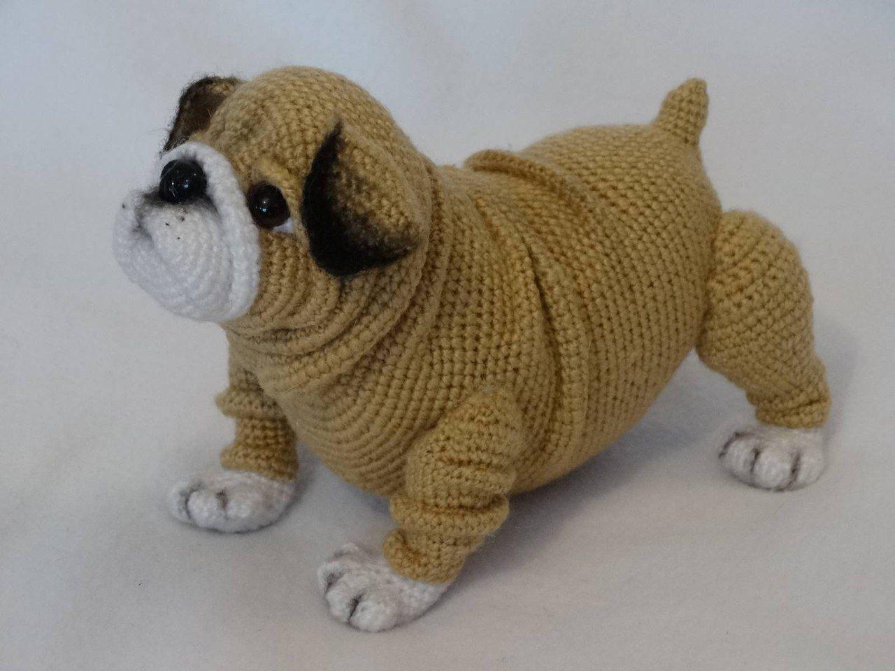 Buldog | AMIRIGUMI | Pinterest | Hund häkeln, Häkeltiere und Häkelideen