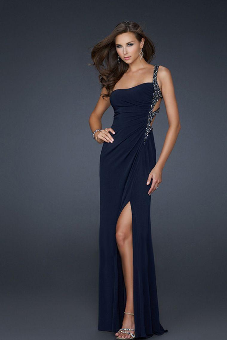Petite Size Evening Dresses Floor Length One Shoulder  Dress ...