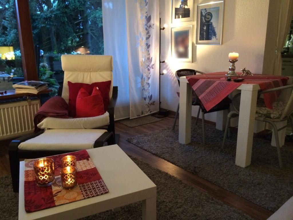 Bezaubernd Sessel Mit Fußstütze Foto Von Gemütlich Wohnen Im Herbst: Teelichter, Kuscheldecke, Fußstütze