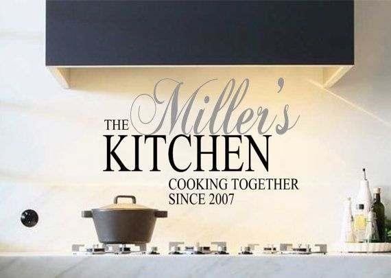 Kitchen Vinyl Wall Decal Personalized Kitchen Cooking Together - Custom vinyl wall decals sayings for kitchen