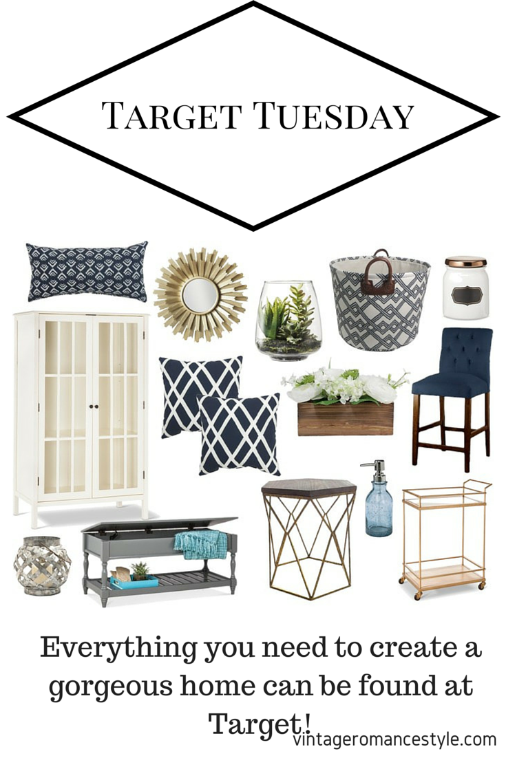 Target Tuesday // Navy U0026 Gold Threshold Home Decor With A Beachy Vibe