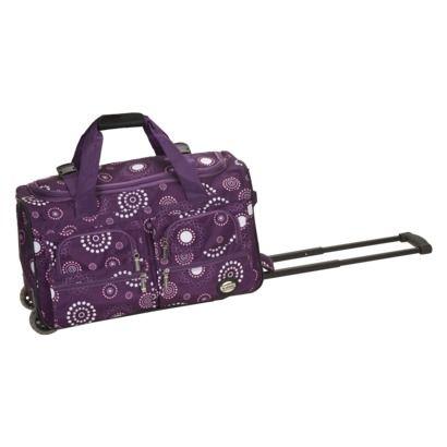 "Rockland 22"" Rolling Duffle Bag - Purple Pearl"